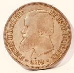 Moeda Império Brasil, 2000 Réis cunhada em 1869.