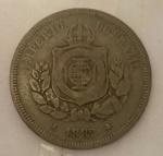 Moeda 100 Reis, Brasil Imperial, cunhada em 1882.