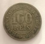 Moeda 100 Reis, Brasil Imperial, cunhada em 1880.