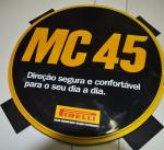 Placa de propaganda da famosa Marca Italiana Pirelli, (MC 45), em molde plástico rígido com  diâmetro de 53.5 centímetros, marcas do tempo e uso.