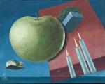 Walter Lewy pintura surrealista ost assinado. 42 x 53 cm.