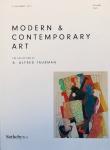 Catálogo Sotheby's em perfeito estado. Catálogo de leilão de obras modernas e contemporâneas  realizado em Nova York em 05 de novembro de 2015. Volume II – 307 páginas.