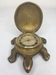 Relógio BUCHERER em forma de tartaruga em bronze - precisa de reparo - 12cm x 9cm x 4 cm