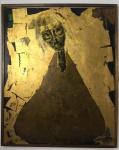 B.BOLT - Sem Título - Técnica mista, acabamento folha de ouro sobre placa - 74cm x 60cm