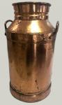 Antigo galão de leite - 66cm x 37cm