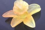 Flor em vidro assinado DAUM NANCY FRANCE - 6,5 cm x 3 cm