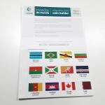 193 Etiquetas para Coleção de Moedas do Mundo - Paises da ONU - Com cartões de Continente e lista de paises para controle.