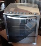 Fogão Eletrolux 5 queimadores, modelo 76 STX,em aço escovado bandeja do queimador em aço escovado, forno com timer.
