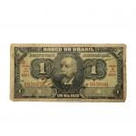 """Rara cédula Assinada no valor de """"Um Mil Reis"""" de 1923. Estampa 1ª / Série 466 ª / nº 083000. Presença de marcas do tempo."""