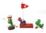 NINTENDO - MARIO - Lote contendo 3 figuras Mc Donalds de personagens da série Mário. Medindo a maior 15cm de altura.