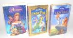 DISNEY - Antigas fitas importadas em VHS de filmes da Disney, sendo elas: O Rei Leão, Anastácia e Peter Pan. Peças originais. Obs: não testadas.
