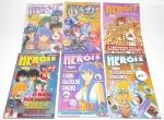 REVISTA - Lote contendo 6 revistas de animes e games Heróis do Futuro da editora Press. Medindo 21cm de altura cada.