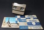 VIEW MASTER - GAF USA - visualizador de discos de slides viewmaster com 10 discos a saber: 6 discos de Paris década de 50, 3 discos com imagens do Rio de Janeiro e 1 disco com imagen de Petrópolis década de 40. Excelente conservação.