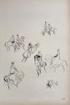 Carybé. Reprodução gráfica off-set -  Mestres do Desenho - Carybé - apresentado por Jorge Amado Ed. Cultrix. Assinada na prancha. 54 x 36 cm.  1961.