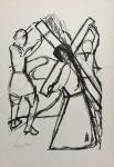 Djanira. Reprodução gráfica off-set -   DEZ DESENHOS DE  DJANIRA - texto de Flávio de Aquino Ed. Cultrix. Assinada na prancha. 47 x 33 cm.