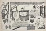 Djanira. Reprodução gráfica off-set -   DEZ DESENHOS DE  DJANIRA - texto de Flávio de Aquino Ed. Cultrix. Assinada e datada 68 na prancha. 33 x 47 cm.