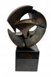 Bruno GIORGI (1905-1993) - escultura em bronze, representando METEORO, medindo: 56 cm alt.