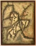 Ivan SERPA (1923-1973) - Raríssimo, óleo s/ tela, medindo: 1,16 m x 89 cm (ACOMPANHA DOCUMENTO DO RENOMADO RESTAURADOR THOMAS BRIXA)(COLEÇÃO PARTICULAR  DO RIO DE JANEIRO, ACOMPANHA TRANSFERENCIA DE PROPRIEDADE)