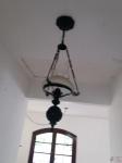 Luminária tipo lampião com cúpula de opalina. Medindo 30cm de diâmetro. Retirada no Recreio dos Bandeirantes, por conta e risco do comprador.