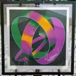 Jack Brusca 1978 - Silkscreen print  on somerset paper. Exemplar assinado e com certificado de autenticidade december 06 - 2010. Moldura quebrada na parte superior. Dimensões: 70 cm x 70 cm.