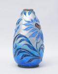 CAMILLE FAURÉ - Vaso esmaltado desenho floral assinado e localizado Limóges, altura 22 cm.