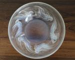 R.LALIQUE - Ondines bowl, catálogo Marcilhac, número 381, diâmetro 21 cm.