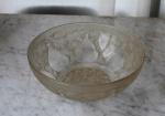 LALIQUE - Vases bowl, Catalogo Marcilhac, diâmetro 24 cm. Assinatura VDA France.