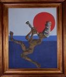 CLÓVIS GRACIANO - Flautista, óleo sobre tela assinado e datado 78, medindo 62 x 51 cm, medidas sem moldura.