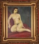 ANTONIO GOMIDE- Nu, óleo sobre tela assinado com data legível em parte 5* medindo 60 x 50 cm,medidas se moldura. Década de 50