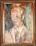 BRUNO GIORGI -  Autorretrato, óleo sobre tela assinado,medindo 65 x 46 cm, medidas sem moldura.