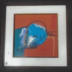 Francis Bernard  Abstrato, 0.S.T., assinado no CID. Medindo 30 x 30 cm MI, e com moldura 50 x 50 cm ME.