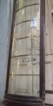 Grande dimensão:  frente de antiga  vitrine em vidro curvo  emoldurado com madeira nobre. med.: 2,60 x 84 cm