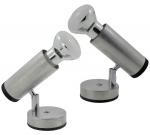 2 (Dois) Spots Sobrepor Direcionável em Alumínio para 1 (Uma) Lâmpada . Medida:12 X 12 X 8 Cm. (Diâmetro da Base).