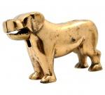 Quebra Nozes em Pesado Bronze na Figura de Cão São Bernardo - Mecânico. Medida: 10 X 17 X 16 Cm.