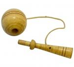 Bilboquê - Antigo Brinquedo em Madeira - Década de 40.
