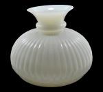 Rara Cúpula Lustre/Luminária em Opalina Off White - Corpo Gomado - Anos 20 - Medidas : 22 cm (Altura) X 30 cm. (Diâmetro) / Medida Encaixe = 26,5 cm