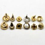 6 (Seis) Brincos para Furo em Dourado., Diversos Modelos.