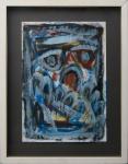 Márcio Atherino, Figurativismo, tinta acrílica sobre papel, medindo 41 x 30 sem moldura e com moldura  56 x 44 cm.