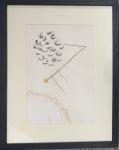 Mira SCHENDEL (1919-1988) - tecnica mista s/ papel, possui marca de humidade, medindo: 26 cm x 17 cm e 37 cm x 30 cm