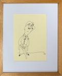 J. CARLOS (1884-1950) - nanquim s/ papel, medindo: 20 cm x 14 cm e 32 cm x 26 m