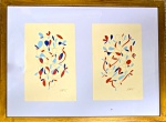 Ivan SERPA (1923-1973) - Maravilhoso Díptico, tecnica mista s/ papel, medindo: cada 25 cm x 17 cm e total 40 cm x 53 cm