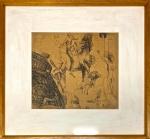 Salvador DALI (Attrib.) (1904-1989) - Espetacular desenho s/ cartão, medindo: 42 cm x 48 cm e 66 cm x 82 cm (todas as obras estrangeiras automaticamente são atribuídas)