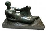 Alfredo CESCHIATTI (1918-1989) - Escultura de bronze patinado,  assinada na base com selo de fundição, medindo: 42 cm alt. x 82 cm  comprimento