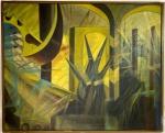 Giacomo BALLA (1871-1958) - oleo s/ tela, medindo: 1,02 m x 83 cm (atribuido) (precisa restauro, moldura com cupim)