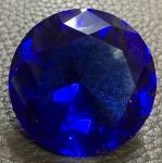 Linda e grande pedra semi-preciosa, decorativa, medindo: 4 cm diâmetro.