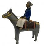 ARTE POPULAR - Gigantesca escultura em cerâmica pintada, medindo: 57 cm x 54 cm