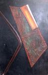 Isamu WAKABAYASHI (1936-2003) - óleo s/ tela colado eucatex, medindo: 83 cm x 55 cm