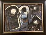 Iberê CAMARGO (1914-1994) - óleo s/ madeira, medindo; 25 cm x 35 cm e 42 cm x 32 cm