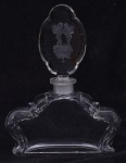 Perfumeiro em cristal tcheco com anjos altura