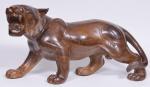 Tigre em Madeira entalhada medindo ...